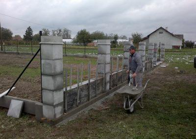Izgradnja ograde, Valentino - Sračinec (2)